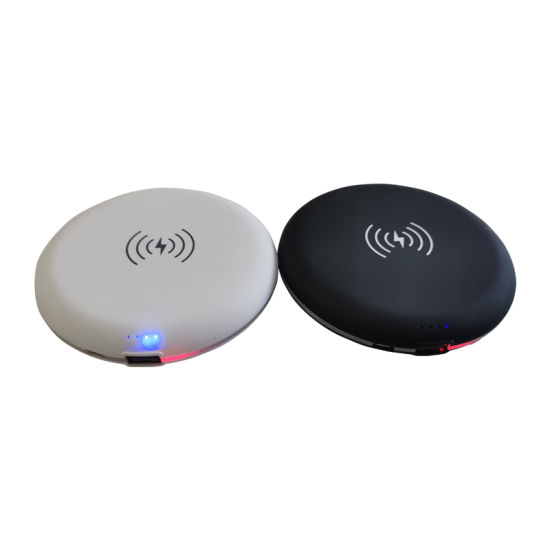 Roundness Portable Power Supply 5000mAh Wireless Power Bank