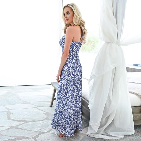 Backless Sexy Loose Strapless Dress Women Casual Dress Fashion Clothing