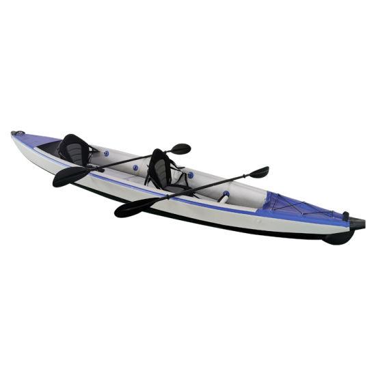Geetone Inflatable Drop Stitch PVC 2 Person Fishing Kayak Inflatable Kayak PVC Double Layer Drop Stitch Kayak