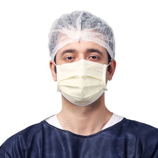 3 Ply Breathable Protective Anti-Dust Ear-Loop Disposable Face Mask for Industry
