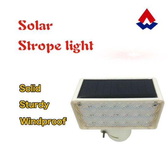 Solar LED Traffic Warning Strobe Warning Light Flash Light Emergency Light