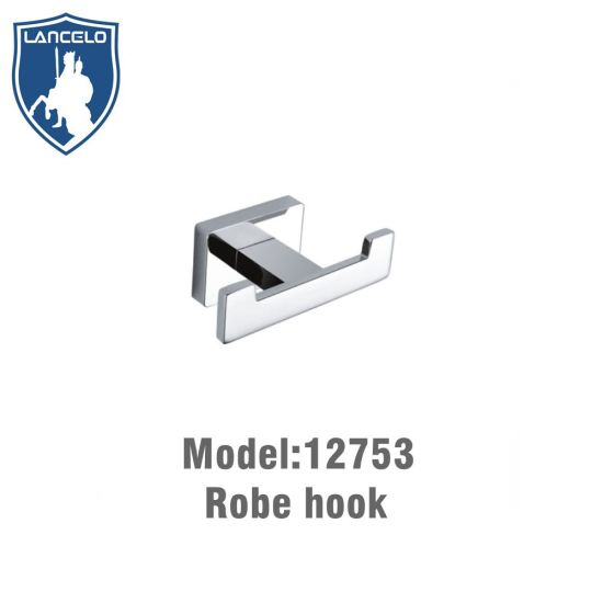 Factory Wholesale Wall Mounted Brass Chrome Painted Double Robe Hook