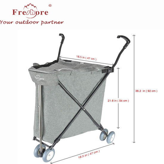 Wholesale Custom Supermarket Luggage Food Foldable Trolley Shopping Cart