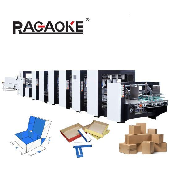 Automatic 4/6 Corner Sweet Match Cosmetics Box Gluing Folding Making Machine (GK-1200/1450PCS)
