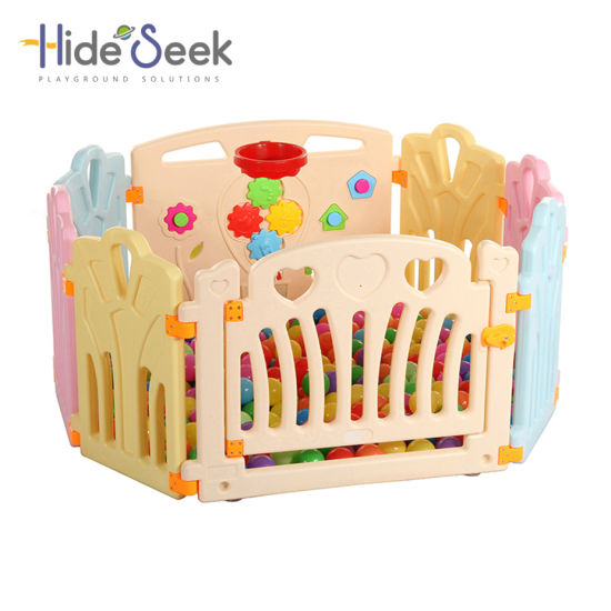 Indoor Plastic Baby Playpen with Game Fence (HBS17066A)