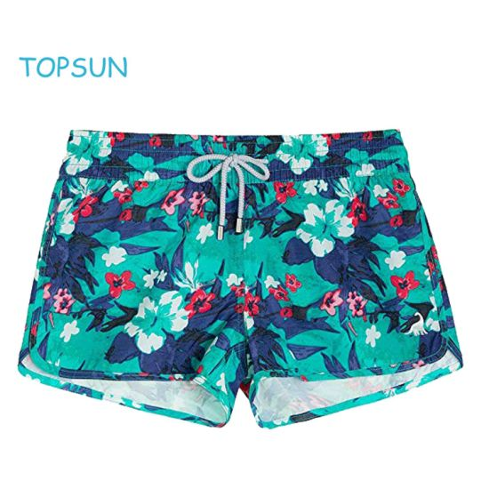 Women's Colorful Board Short Clothing Product Girl Apparel Swim Shorts for Beach or Swimsuit