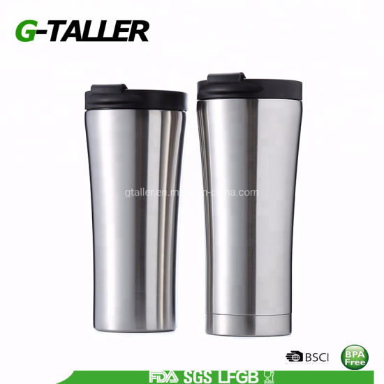 Stainless Steel Vacuum Insulated Coffee Mug with Flip Lid