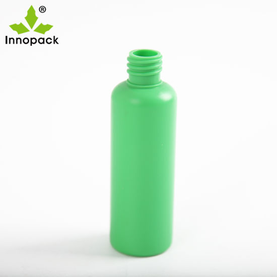 100ml 200ml 250ml Green and Gold Cylinder Plastic Pump Pet Empty Bottle, Cheap Lotion Shampoo Pet Cosmetic Package