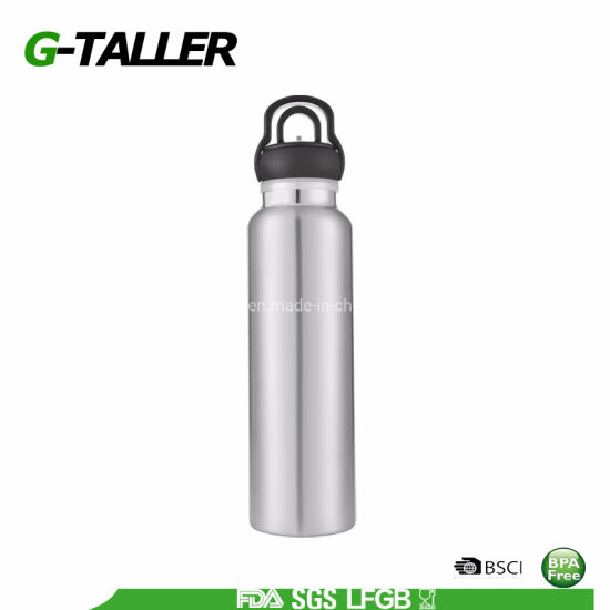 18 8 Stainless Steel Water Bottle with Handle Lid