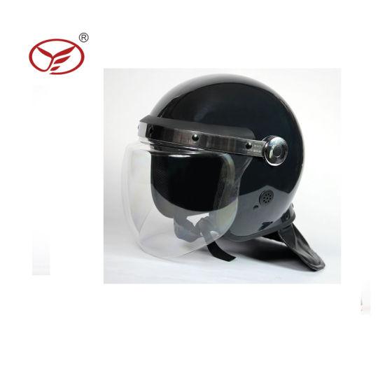 Police Security Equipment Policia Round Face Visor Anti Riot Helmet