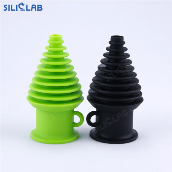 Pagoda Shaped Food Grade Silicon Mouthpieces for Silicone Pipe Smoking pictures & photos