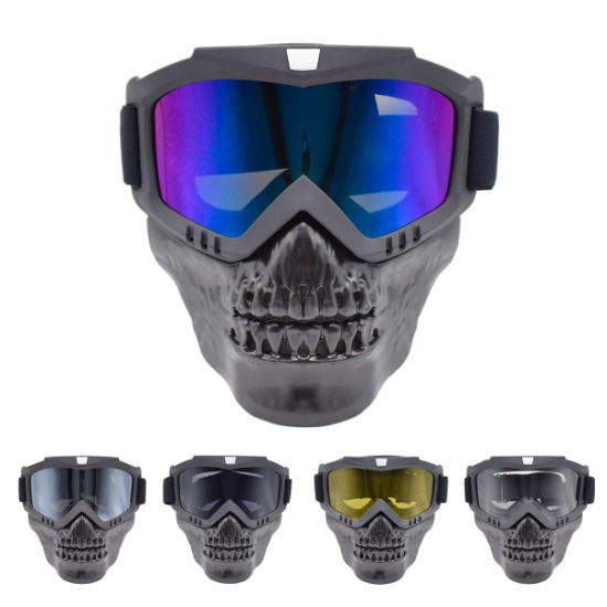 New Devil Skull Mask Windproof Sports Motorcycle Goggle