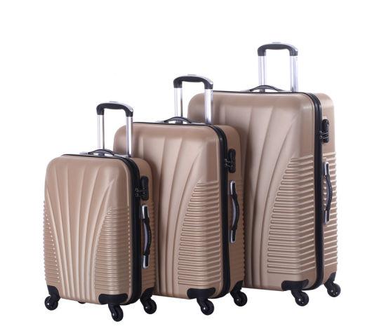 ABS Travel Suitcase, 4 Wheels Trolley Case, 20/24/28 Luggage Set (XHA008)