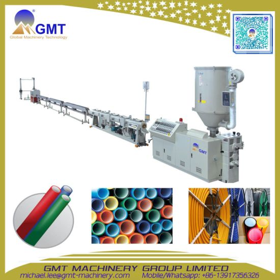 Plastic HDPE Silicon Core Pipe Cable Duct Extruding|Extruder|Extrusion Making Machine