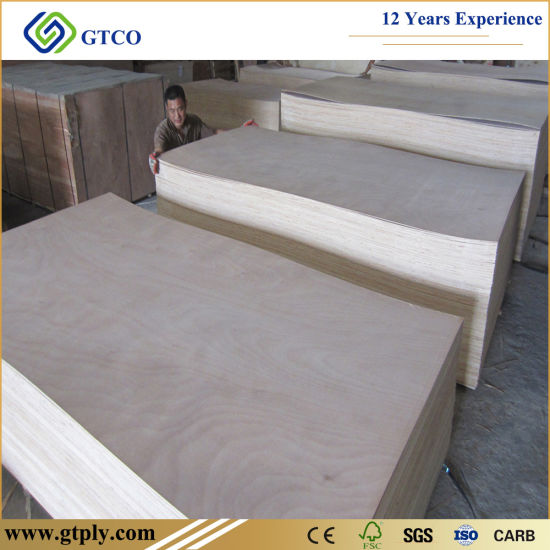1220*2440*6mm Thick Plywood Standard Size Commercial Plywood Use Furniture