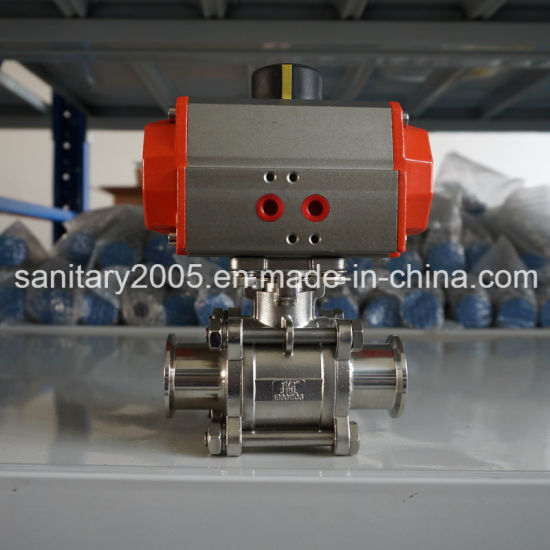 Sanitary Stainless Steel Actuated Valve for Peanut Industry