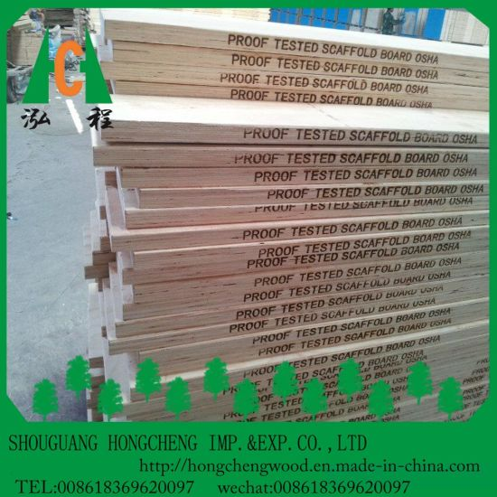 China Linyi Factory Supplier LVL Scaffold Plank / LVL Beams
