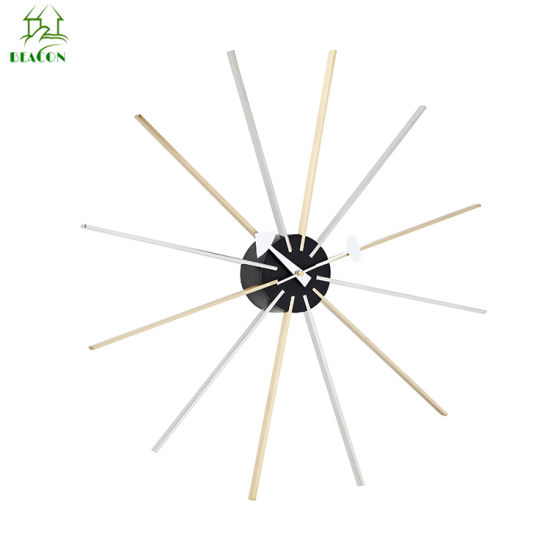 Modern Luxury Decorative Stainless Steel Star Wall Clock pictures & photos