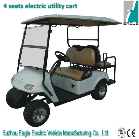 Four Seats Electric Golf Cart Including Two Flip-Flop Seats