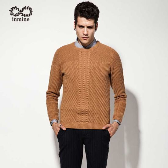 ODM Men Fashion Clothing Cable Knit Sweater Garment