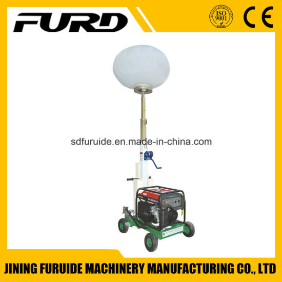 China Manufacturer 1000W*2 Portable Mobile Light Tower with