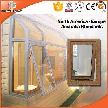 3d Zebra Wood Grain Aluminum Profile Window Awning Window And
