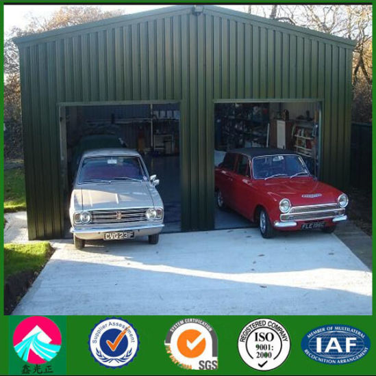 Steel Structure Garage with EPS Sanwich Panel Wall pictures & photos