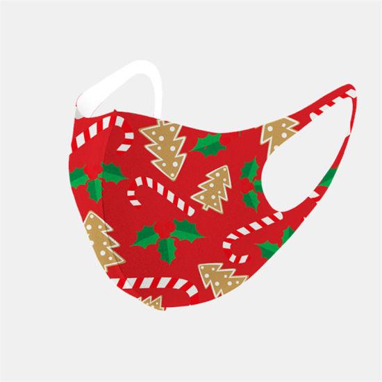 Christmas Snowflake Fashion Face Mask Dustproof Ice Silk Washable Mask