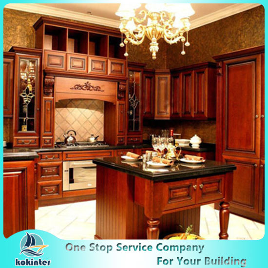 Canada Project New Design Soild Wood Kitchen Cabinet