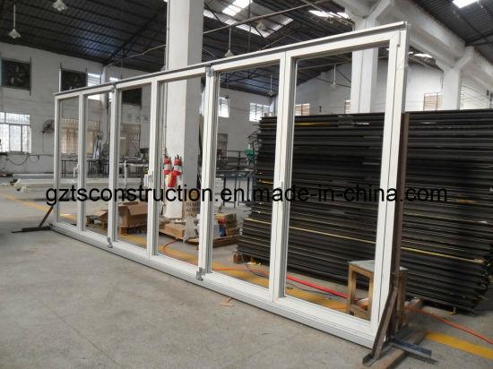 Custom Thermal Break Aluminum Folding Door with Internal Blinds or Shutters|Bifold Patio Doors|Folding Patio Doors