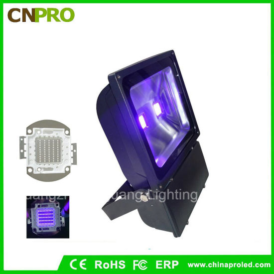 UV380nm UV385nm UV390nm UV400nm 100W UV LED Flood Light IP65 for Curing pictures & photos