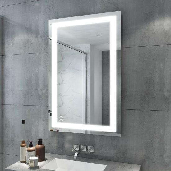 Wall Mount Hotel Grade 3 Brightness Dimmer LED Lighted Bathroom Vanity Mirror