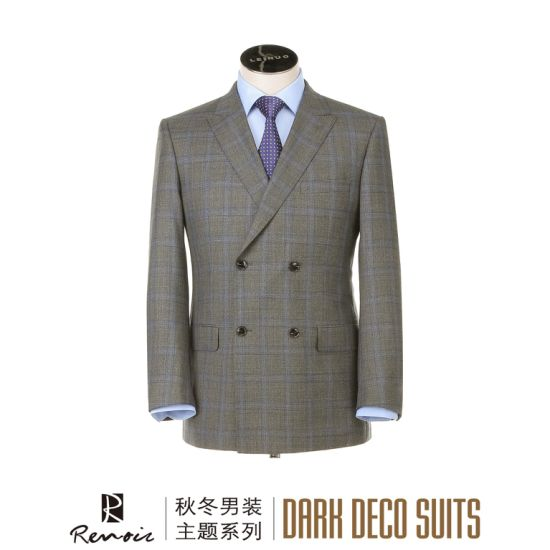 OEM 2 Piece Wool Classic Fit Men′s Business Suit pictures & photos