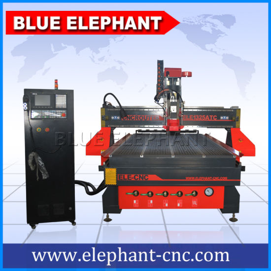 Ele 1325 CNC Router Auto Tool Changer, 3D CNC Wood Carving Router for Guitar Making pictures & photos