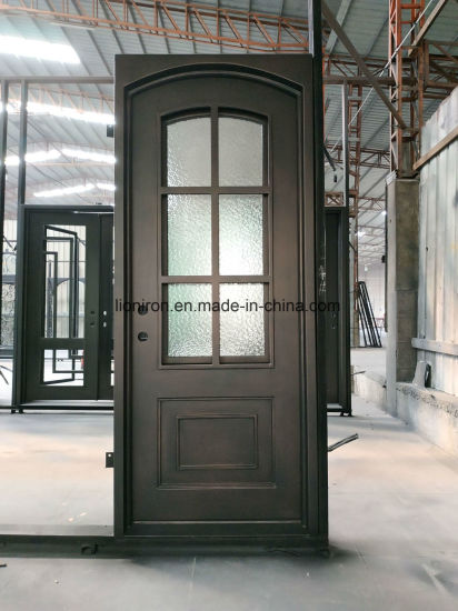 China Classical Design Hand Made Iron Front Door And Window China