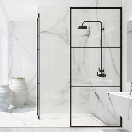 Aluminium Alloy Walk in Glass Luxury Bathroom Shower Enclosure