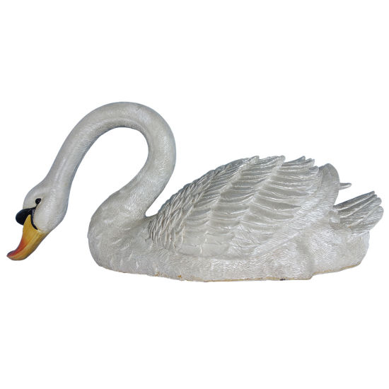 New Arrive Big Size Polyresin Animal Sculpture, Home Garden Decor Resin Swan Statue