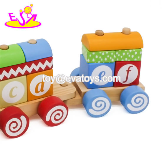 China New Arrival Kids Educational Wooden Block Train with