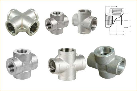 Threaded Cross Forged Steel Cross Joint Thread Pipe Fitting