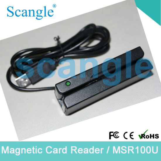 Scangle Track 1/ 2/ 3 Magnetic Card Reader with Dual-Direction Read Capability Msr 100u
