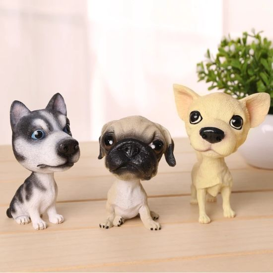 Best Quality Mini Cute Dog Bobble Head for Car Deco