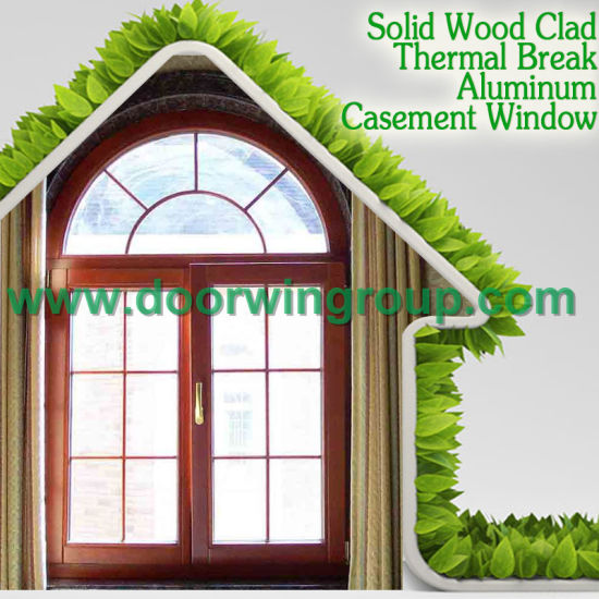 Wooden Window with Classic Decorative Light Grills for Better Feeling, Teak Wood Thermal Break Aluminum Window pictures & photos