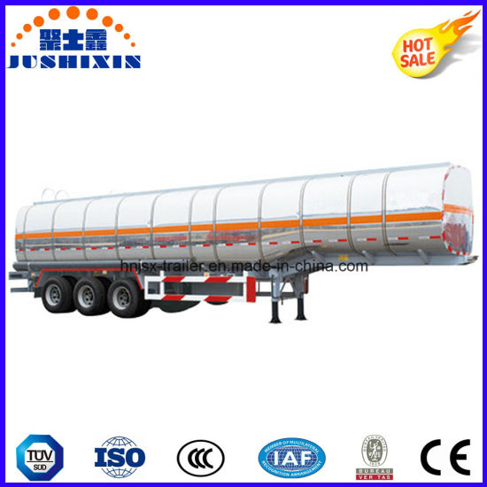 3 Axle 45cbm Aluminium Alloy Diesel Gasoline Fuel Petrol Oil Tanker Semi Trailer with 5 Silo pictures & photos