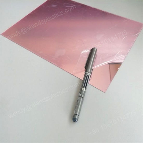 Free Shipping Rose Gold Mirror Acrylic Sheets Select Panel Sizes