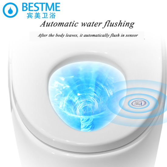 Bathroom Siphonic Toilet Electric Smart Tolilet, Automatic Toilet pictures & photos