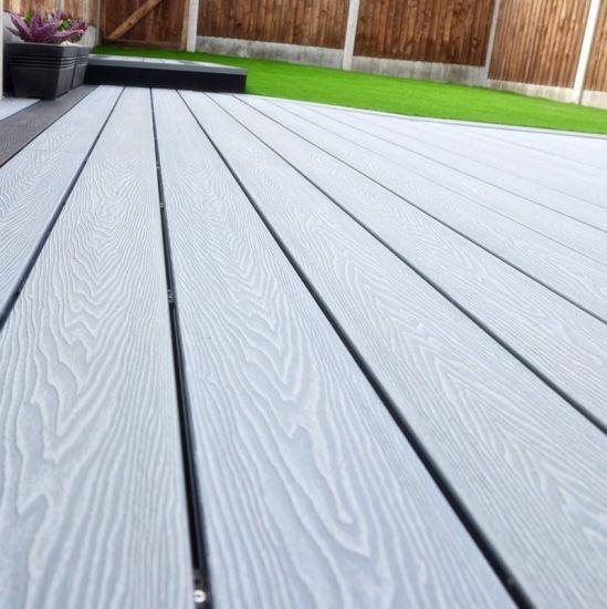 On Line Embossing Deep Wood Grain Composite Decking Slip Resistant Wpc Floor Outdoor Acacia Lumber