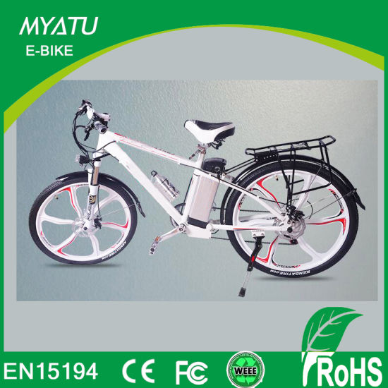 Guangzhou Sporty Style Hybrid E-Bikes with Mage Wheels