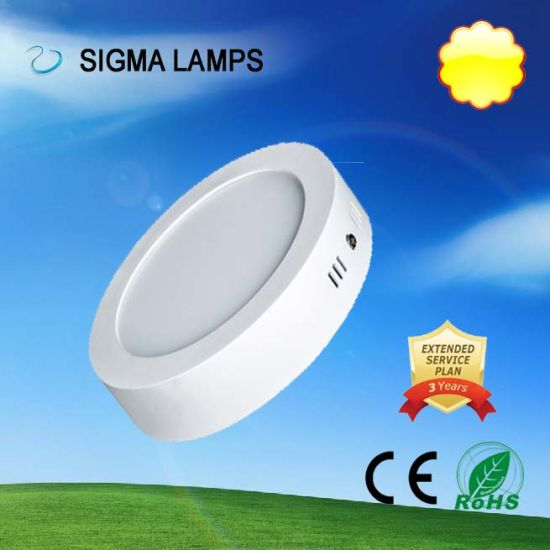Sigma Residential Round Square Slim Recessed Surface Mounted 9W 12W 15W 18W 24W 30W Ceiling Lightbulbs LED Panel Lighting