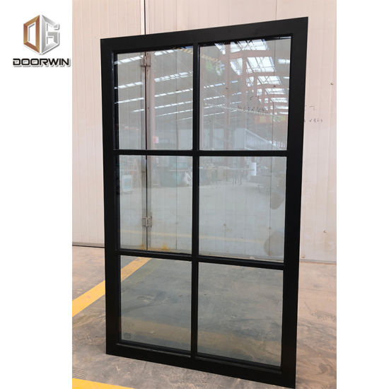Los Angeles New Design Black Thermal Break Aluminum Tilt Turn Window