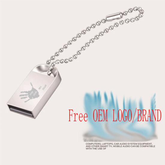 Mini Portable USB Flash Disk, Metal USB Stick Free Make Logo pictures & photos